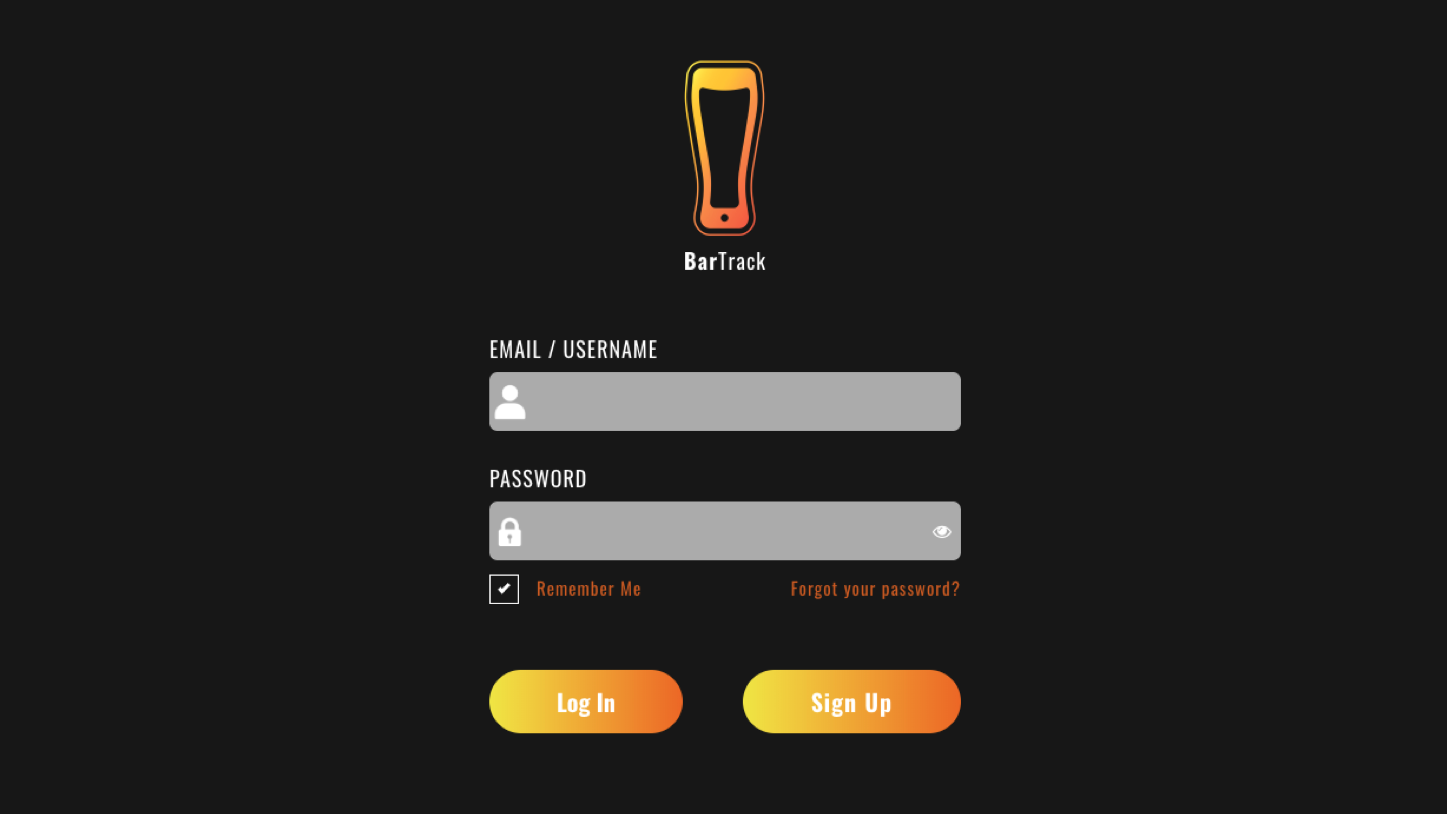 BarTrack's Smart Faucet user interface display on taps